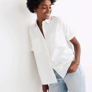 Madewell White Cotton Courier Button Down Shirt S